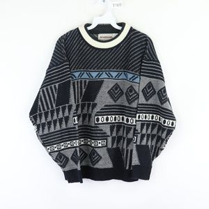 Vintage Fresh Prince Abstract Geometric Sweater S